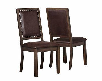 Genoa Dining Side Chairs with Nail Head Trim by Coaster 104912 - Set of 2