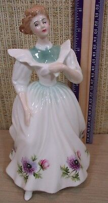 "Royal Doulton Figure Of The Month ""March"" 8"" Figurine ANEMONES Flower England"