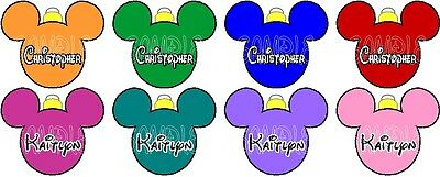 Personalized Disney Mickey Mouse Christmas Balls Stateroom Door Magnet B3G1F!