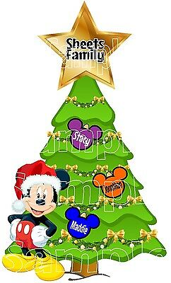 Personalized Disney Christmas Tree Cruise Stateroom Magnet