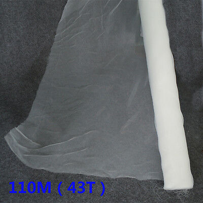 1 yard Screen printing 110 Mesh Count (43T) Screen Mesh Fabric Free shipping