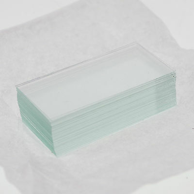 100x microscope cover glass slips 24mmx50mm new