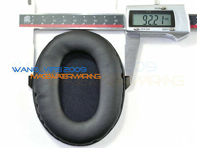 For 110mm x 90mm Leather Oval Ear Pads Replacement Cushion For Headphone Headset