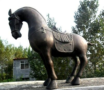 Classic Collection Mighty steed  bronze Antique horse sculpture statue H 9inch
