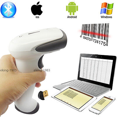 Bluetooth Barcode Scanner Laser Wireless Lesegerät Barcodeleser Bar Code Scan