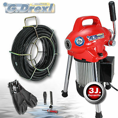 G-Drexl drain cleaning machine professional mini power set 75-I 16 mm spirals
