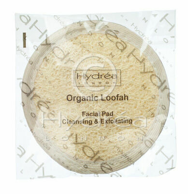 Hydrea Egyptian Loofah Facial Cleansing & Exfoliating 10cm Double Sided Pad