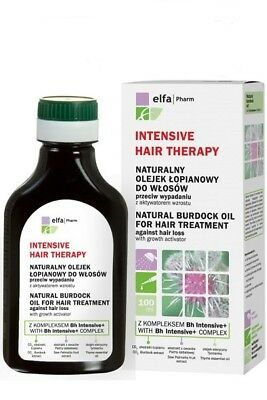 20036 Natural burdock oil Intensive Hair Therapy 100ml Elfa Pharm
