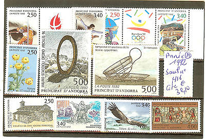Andorre Annee Complete 1992 ** Timbres Sauf 416 Neufs Qualite Luxe