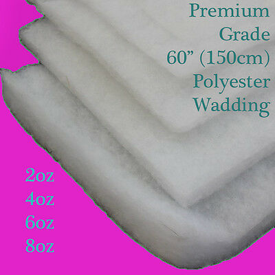 """1m High Grade Polyester Wadding Fire Retardant Upholstery Quilting 60"""" 150cm"""