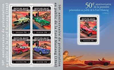 GU14325ab Guinea (Guinee) 2014 Ford Mustang MNH SET **