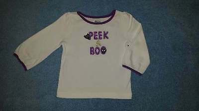 NWT Gymboree Purrfectly Faubulous Baby Girls Peek-A-Boo Kitty Tee, 6-12 Months