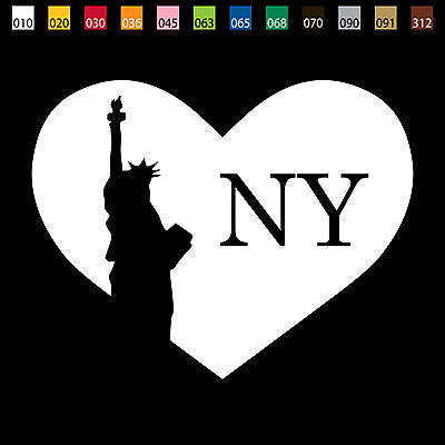 From USA- I LOVE NY NEW YORK Liberty Statue Car Window Vinyl Decal Sticker US003