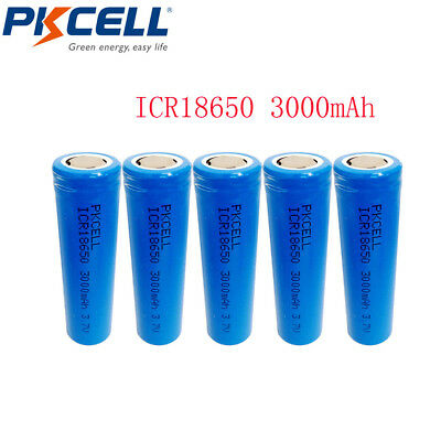 2Pcs/ICR 18650 3.7V 3000mAh Li-ion Rechargeable Battery for Mod & Torch