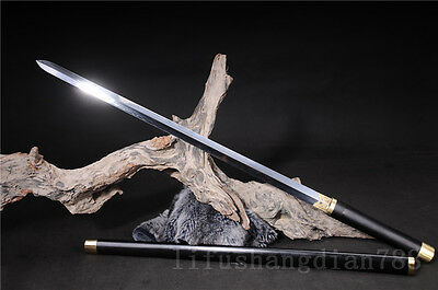 39' 1095 Carbon Steel Clay Tempered Blackwood Japanese Sword Blade Very Sharp