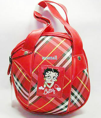 Auth Betty boop ball-shaped hand bag