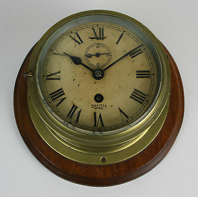 Ship Clock - Smith Astral - Made In England - Early Twentieth Century