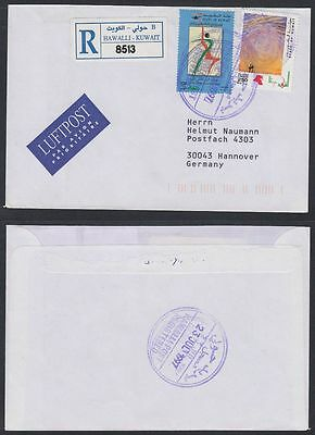 1997 Kuwait R-Cover to Germany, HAWALLI cds [ca687]