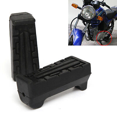 Pair Black Front Foot Rest Peg Rubbers For Yamaha YBR 125 All Year Left & Right