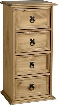 Corona Mexican 4 Drawer CD Chest Distressed Waxed Pine