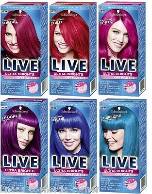 Schwarzkopf Hair Color LIVE XXL Ultra Brights - Choose from 9 Assorted Shades