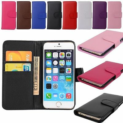 For Apple iPhone Samsung Galaxy New Wallet Flip PU Leather Phone Case Cover