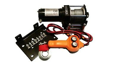 2500 Pound Lb Winch Electric 12V With Mounting Plate Atv Truck Trailer New
