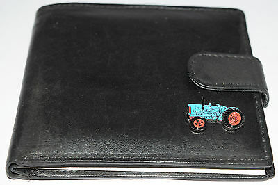 Fordson Major Tractor Wallet Leather Black/Brown/Tan Enamel Gift Boxed Money