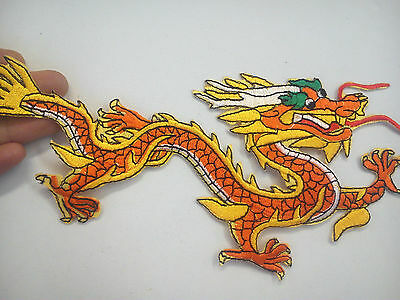 1 Large Chinese dragon patch applique motif embroided iron on sew on hotfix uk