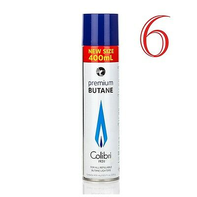 Colibri - Premium 6 x 400ml Butane Large Can Original High Quality Gaz Gas