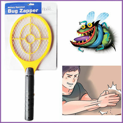Electric Fly Insect Racket Bug Zapper Swatter Easy Killer Swatters Wasp Home