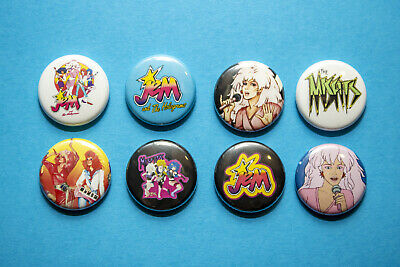 "4 1"" Jem and the Holograms Misfits Cartoon 80s pinback badges buttons"