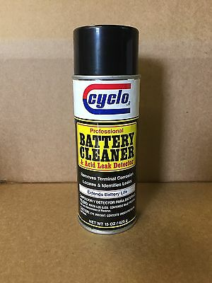 FREE PRIORITY SHIP Professional Cyclo Battery Cleaner and Leak Detector Spray
