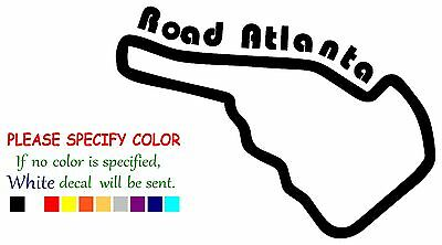 Road Atlanta Race Track Funny Vinyl Decal Sticker Car Window bumper laptop 7""