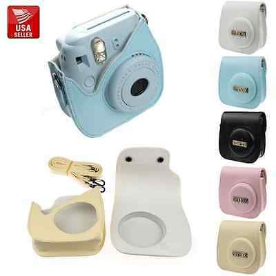 FUJIFILM INSTAX MINI 8 PU Leather protective camera case soft and Matching Strap