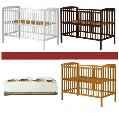 Jasper Baby Cot Solid Wood + Optional Mattress Large Selection