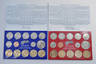 Estados Unidos 2008 Us Mint Uncirculated Coin 28 Coins Set United States Usa D+P