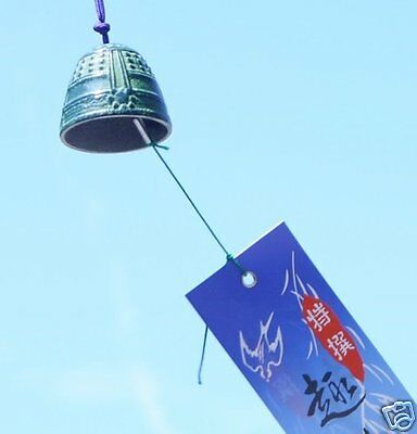 Japanese Wind Bell Furin chime  Nambu cast iron Made in Japan Hanging Sound