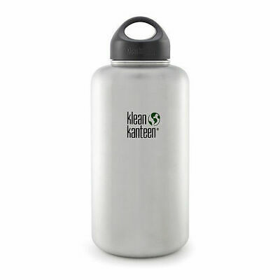 KLEAN KANTEEN WIDE MOUTH 64oz 1900ml Brushed Stainless BPA FREE WATER BOTTLE