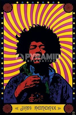 Poster Jimi Hendrix psychedelic ufficiale import 61 cm X 91,5 cm