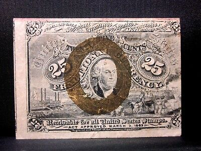 25C Fractional Currency ✪ 2Nd Issue ✪ Vf Very Fine L@@k Now Choice N ◢Trusted◣