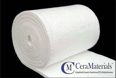 "CERAMIC FIBER BLANKET INSULATION 2""x24""x12.5' 2300F 8LB (CENTRAL USA)"