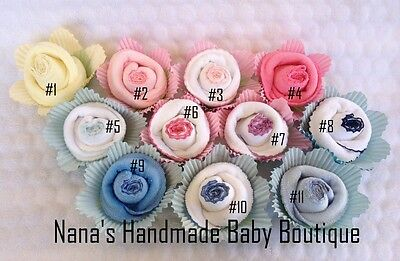 Baby Bib Roses!! Super Cute Baby Shower Gift or Decorations!