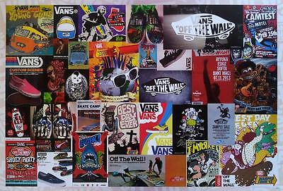 "VANS MIX POSTER 23""x34"" Promo Advertising Graphic American Line Art Shoes"