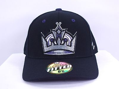 La Kings Nhl Black 6 3/4, 7 1/2, 8 Fitted Cap By Zephyr (D52)
