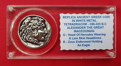 Ancient Greek Coin , 10 Drachmas , Alexander The Great Macedonian
