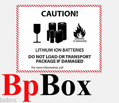 Lithium Battery Handling Safety & Security Label -  100 labels -S-14859