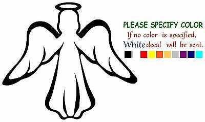 Modern Guardian Angel  Vinyl Decal Car Sticker Window truck laptop bumper 6""