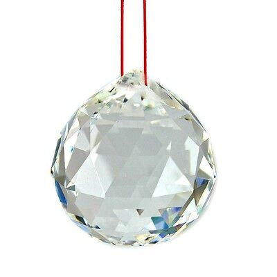 "FENG SHUI HANGING CRYSTAL BALL 2"" 50mm Sphere Prism Rainbow Sun Catcher Clear"