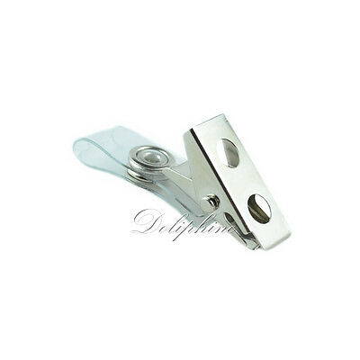 Wholesale office supplies Plastic ID Card Name Tag Holder Badge hook Clip